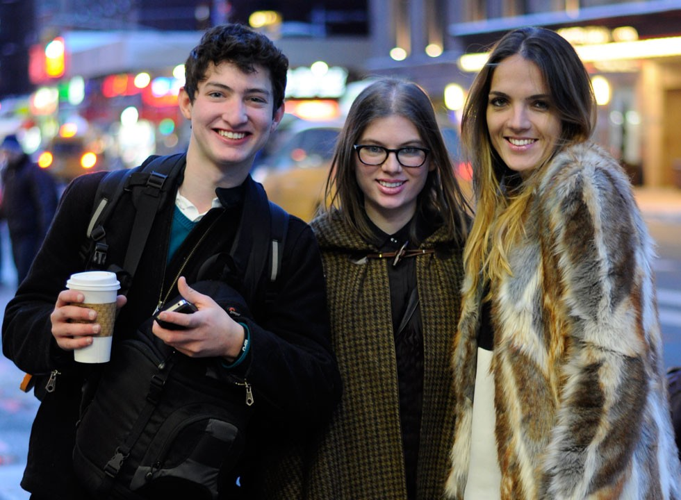 The Global Girl Fashion Week Team: Verena Zannantoni, Leah Hoffman and Kegan Barber..