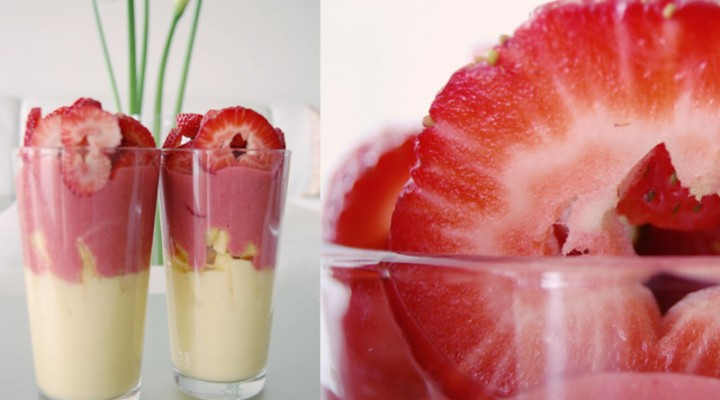 Raw Vegan Pineapple Strawberry Parfait