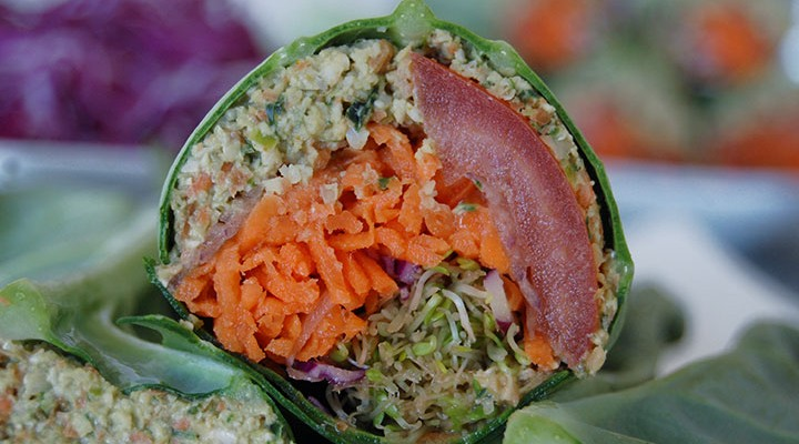 Raw Falafel Wrap