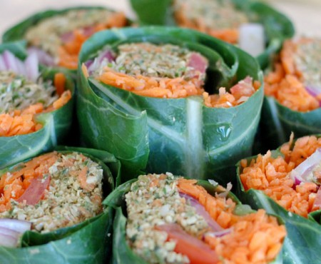 Raw Wrap with Pumpkin Seed Patty