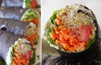 No-Rice Raw Vegan Sushi