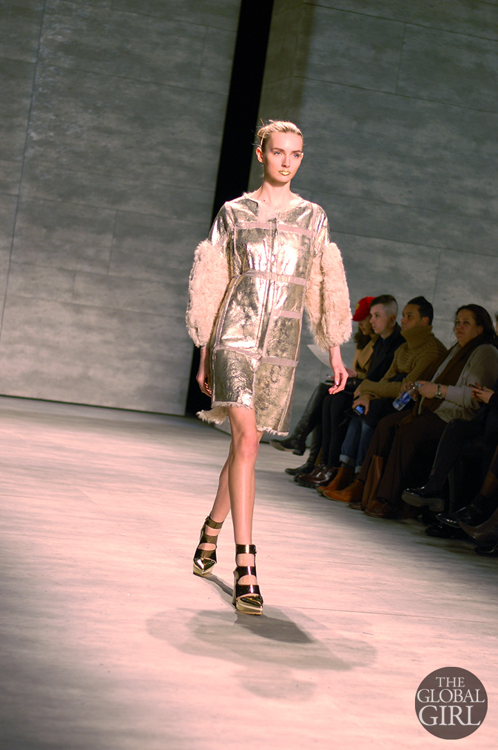 Front Row with The Global Girl at New York Fashion Week: Son Jung Wan Fall Winter 2014 Runway Collection.