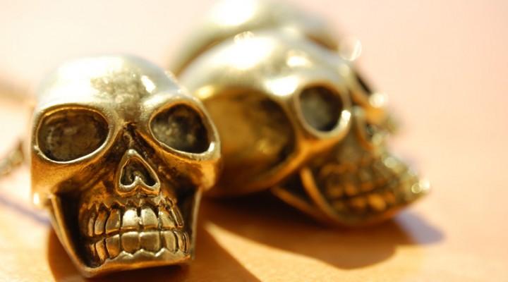 Gold Skulls Necklace