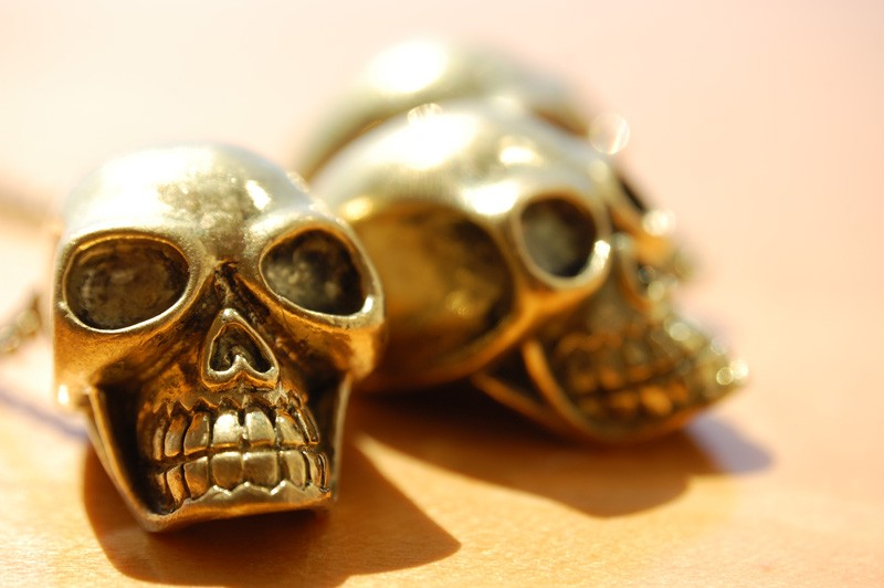 Gold Skulls Necklace