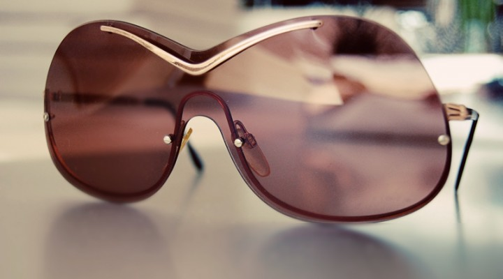 Vintage Oversized Shield Sunglasses