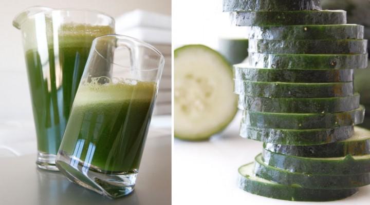 Green Juice Recipe: kale, cucumber, tomato, carrot, lemon