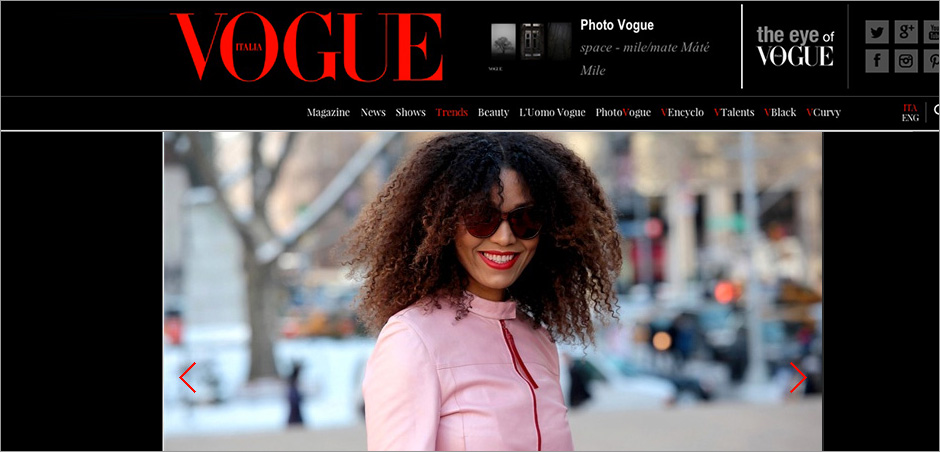 The Global Girl Press: Ndoema featured in Vogue Italia during New York Fashion Week
